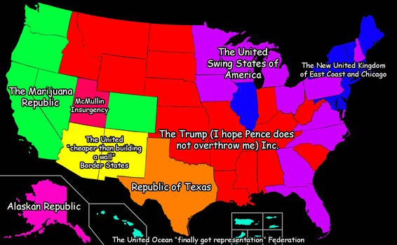 The Divided States of America 2016 by exfodes