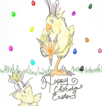 Chocobo Easter by nickel-city