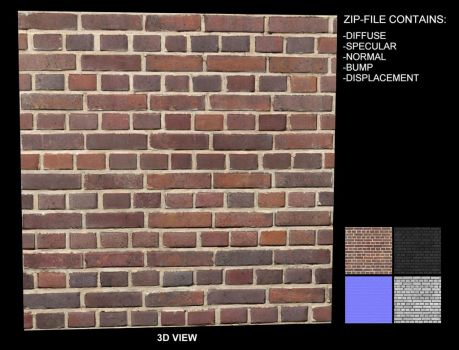 Brick Texture 9 - Seamless by AGF81