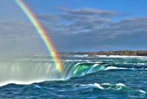 Rainbow at Niagara Falls by WorldsInWorld