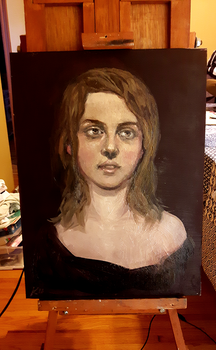 First Oil Painting of the Year by Karisean