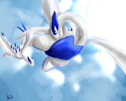 Lugia's First Flight by Matryoshkat