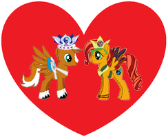 Prince Dusty and Princess Ishani by iamnater1225