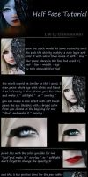 Half Face photomanipulation Tutorial by l-a-ll-o