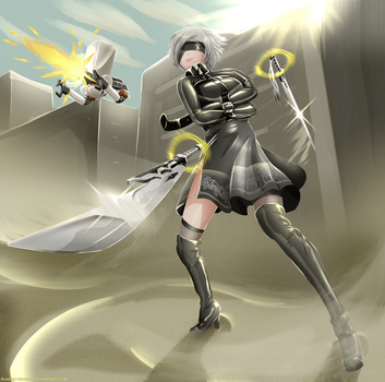 2B's combat upgrade by Plasma-dragon