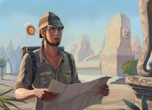 Mythic Ruins - Archaeologist by AlbaBeltane
