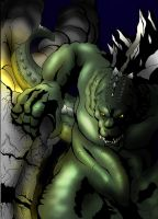 Godzilla destruction color by gfan2332