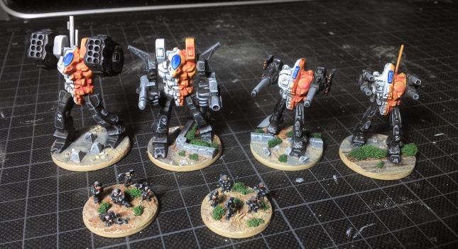 Mech lance with some infantry by Ludwig1920