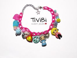 Howl's moving castle charm bracelet by tivibi