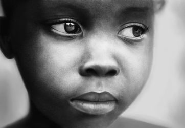 African sad girl by Psymfonius