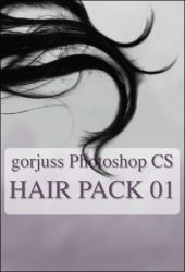 Photoshop HAIR brushes pack 01 by gorjuss-stock