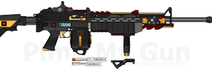 T.I. MCMG-243 'Tiger' Medium Combat Machine Gun by Lord-DracoDraconis