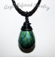 Forest Dragon Egg Pendant by Toxic-Muffins-Studio