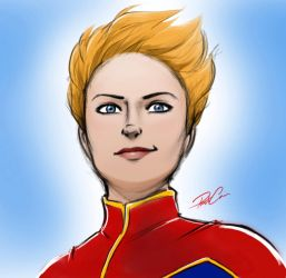 Captain Marvel by RobtheDoodler
