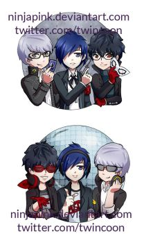 Persona345/Dance Time by ninjapink