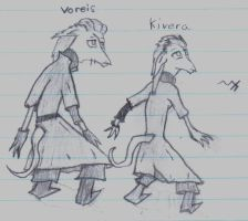 The Twins: Voreis, and Kivera by Markus-The-Madman