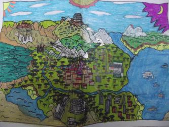 Paper Mario Book of Ages World Map Concept by ProtoTypedKnife