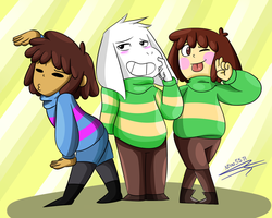 Asriel's bitches by Nino5571