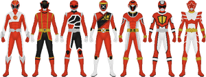 Sentai Designs That Never Were by Taiko554