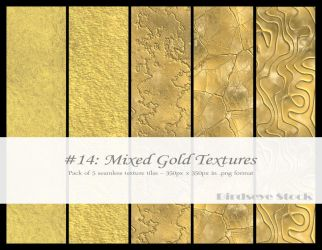 Mixed Gold Textures by BirdseyeStock