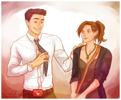 Bones and Booth by viria13