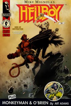 Hellboy Cover Redesign Contest entry by JPipe