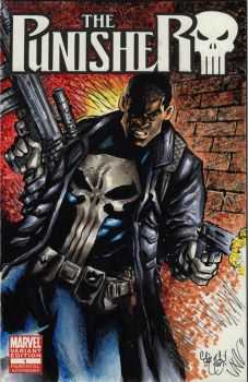 Punisher Sketch Cover Commission by ChrisMcJunkin