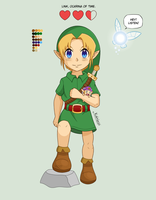 Link - The Legend of Zelda: Ocarina of Time by Kunaless
