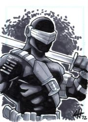 Snake Eyes Sketchcard by stratosmacca