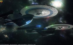 Excelsior and Enterprise-B by Euderion