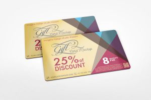 Gift Card Mockup by idesignstudio