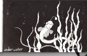 Inktober Underwater by Dragon-flame13