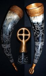 Viking drinkinghorn 2 by DarkSunTattoo
