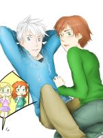 Get an other room, please. [Jack x Hiccup] by KikiKinchester