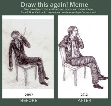 Meme: Before and After by deirie