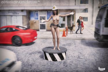 Naked Traffic Policewoman - Wombourne by Noone102000