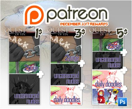 Rewards december 2017 patreon by tikopets