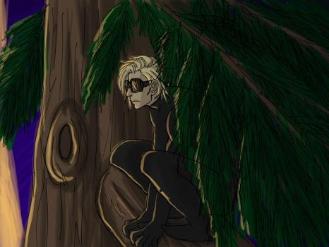 Sandman in tree by ChessieZappia