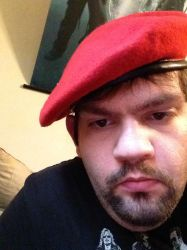 Me wearing my military beret by motorhea