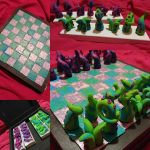 Tentacle Chess Board by querulousArtisan