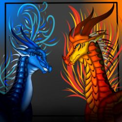 Fire and Water (com) by DesertBloomBeasts