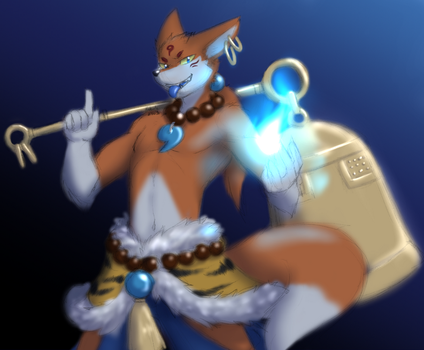 -Color Sketch- Demon Fox by Nukude