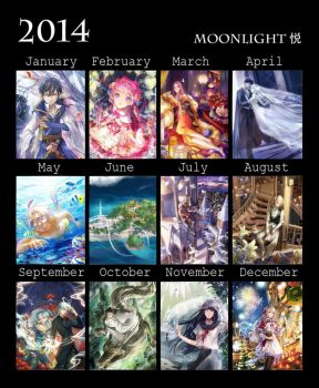 2014 individual works annual summary by MoonlightYUE