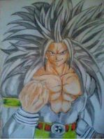 2013 drawing - Super Saiyan 5 goku by nielopena