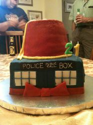 Doctor Who Cake by dragonseeker26
