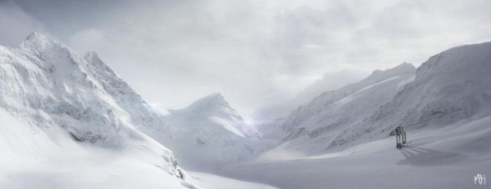 Alone in the Mountains of Hoth by MBHenriksen
