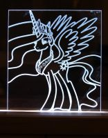 Another Princess Celestia Acrylic LED Picture by steeph-k