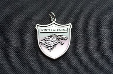 Game of Thrones Winter Is Coming Pendant by Worldofjewelcraft