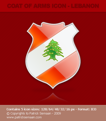 Coat of arms icons - Lebanon by system-s