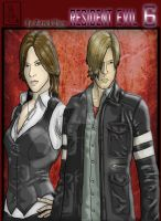 Resident Evil 6 Color_Helena and Leon by PatrickOlsen